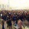 Des Libyens manifestant à Tobruk le 20 février 2011.