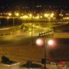 Night view of the city of Tobruk in eastern Libya near the Egyptian border.
