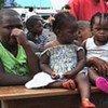 Des enfants attendent d'être vaccinés contre la polio, à Goma, en RDC.