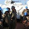 Des casques bleus au Soudan en patrouille dans la région d'Abyei.