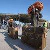 A la frontière tunisienne, des personnes ayant fui les violences en Libye.