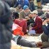 A la frontière égyptienne, des migrants ayant fui les violences en Libye.