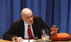 Richard Falk, UN Special Rapporteur on the occupied Palestinian territories.