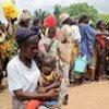 Des personnes déplacées dans l'ouest de la Côte d'Ivoire.