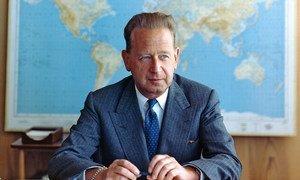 联合国第二任秘书长达格·哈马舍尔德。联合国图片