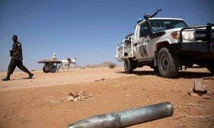Vestiges de combats dans le Nord Darfour.