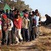 Refugees at the Tunisian-Libyan border