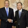 Secretary-General Ban Ki-moon (right) with Russian Foreign Minister Sergey Lavrov (file)