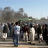 A scene from the protests that took place at the UN mission in Mazar-i-Sharif, Afghanistan.