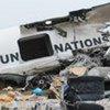 Wreckage of UN aircraft at N'Djili International Airport in Kinshasa, DRC