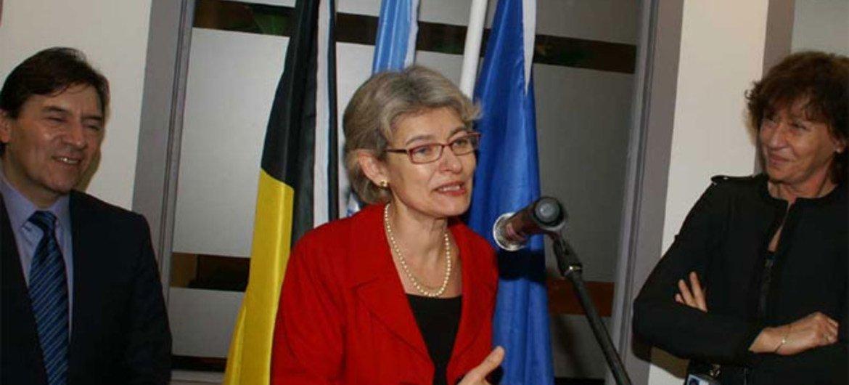 La Directrice générale de l'UNESCO, Irina Bokova.
