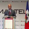 President-elect Michel Martelly of Haiti holds press conference in Port-au-Prince