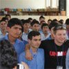 Jeremy Renner visits a school in Kabul