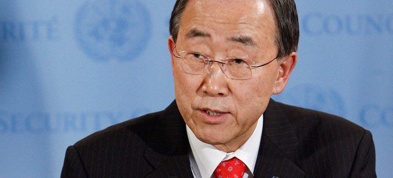 Le Secrétaire général de l'ONU Ban Ki-moon. Photo ONU/JC McIlwaine