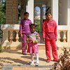 Displaced children from Ajdabiya play in the grounds of a converted construction camp in Benghazi, Libya.