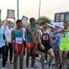 Some of the more than 1,400 Palestinians taking part in the first-ever UNRWA Gaza Marathon