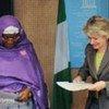 UNESCO Director-General Irina Bokova (right) and Nigeria's Minister of Education Ruqayyatu Ahmed Rufa'i