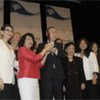 Secretary-General Ban Ki-moon (C) at the award presentation and closing ceremony of the 2011 Global Summit of Women