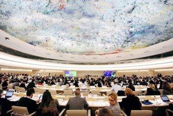 Le Conseil des droits de l'homme de l'ONU. Photo/Pierre Albouy