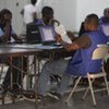 Electoral workers count votes in Haiti (file photo)