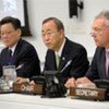 """Secretary-General Ban Ki-moon (C) addresses ministerial dialogue on """"Moving towards Sustainable Development Expectations"""""""