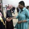Beduinos palestinos<br>con Valerie Amos<br>Foto de archivo