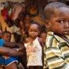 Des familles réfugiées à la mission catholique de Duékoué, dans l'ouest de la Côte d'Ivoire, lors de la crise post-électorale.