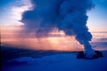 冰岛火山爆发场景