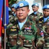 Cambodian peacekeepers of UNIFIL at their headquarters in Naqoura, Lebanon