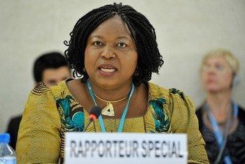 La Rapporteuse spéciale Joy Ngozi Ezeilo.