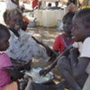 Children displaced from Abyei after Sudan Armed Forces overtook the town in mid-May