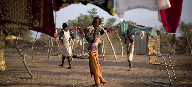 Des enfants dans un camp de rapatriés au Soudan du Sud.