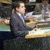 Le Président de l'Assemblée générale de l'ONU, Nassir Abdulaziz Al-Nasser.