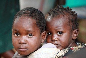 Des enfants de la Corne de l'Afrique.
