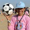 Concours de dribbles de football à Gaza.