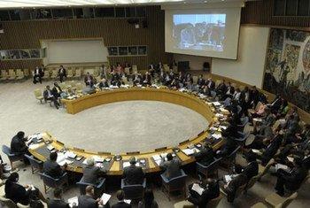 Le Conseil de sécurité en séance publique.