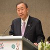 Secretary-General Ban Ki-moon addreses the WTO's Third Global Review of Aid for Trade in Geneva
