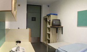 A standard cell at the UN Detention Unit in The Hague