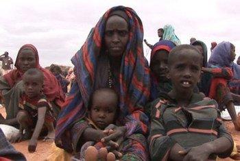 Des Somaliens ayant fui la famine dans le sud de la Somalie.