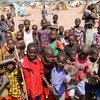 Children at an IDP camp in Kabo, northern Central African Republic