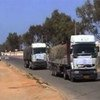 向利比亚运送援粮的车队