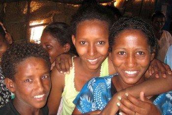 Eritrean children at Shagarab camp in eastern Sudan (2010).