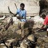 Remoción y reconstrucción<br>en Haití
