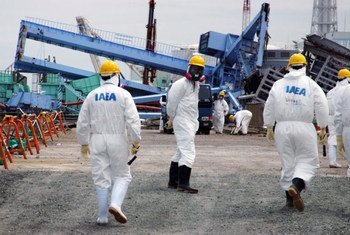 IAEA fact-finding team examines devastation at the Fukushima Daiichi Nuclear Power Plant in May 2011.