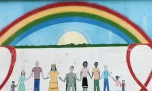 An HIV/AIDS mural in Belize.