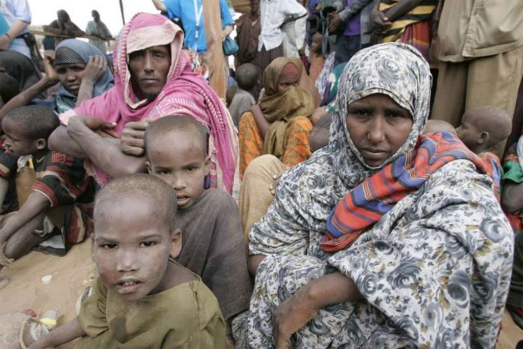 Somali refugees at the world's largest refugee complex at Dadaab in north-east Kenya.