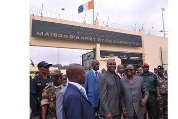 A prison in Abidjan, Côte d'Ivoire, that has been renovated with UN assistance
