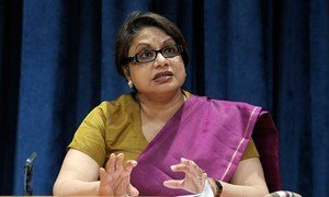 Radhika Coomaraswamy, Special Representative to the Secretary-General for Children and Armed Conflict.