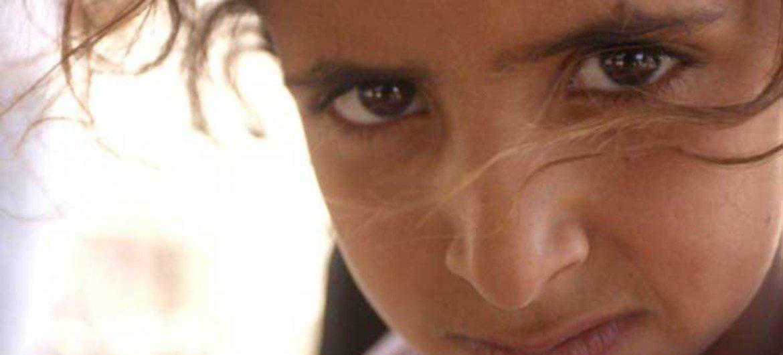 A Palestinian child.