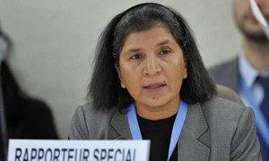 Rashida Manjoo, Rapporteuse spéciale sur la violence contre les femmes. Photo ONU/Jean-Marc Ferré